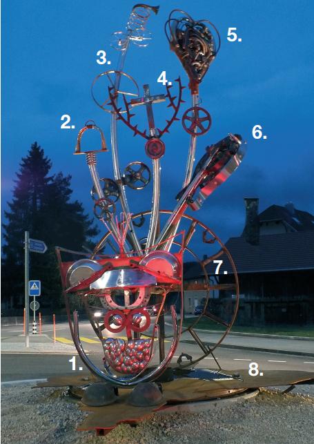 Sculpture du rond-point – Le Noirmont