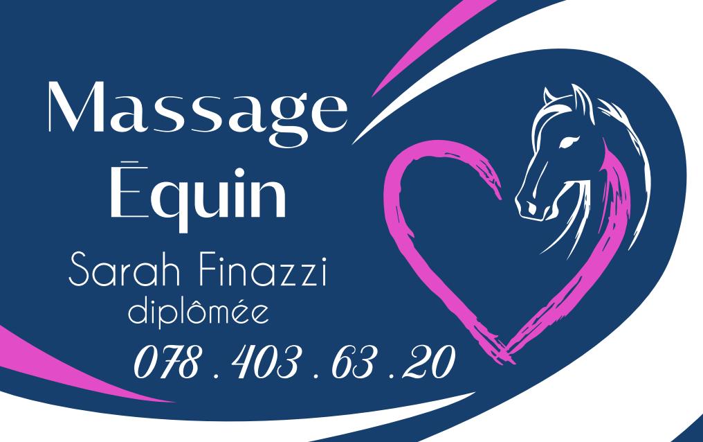 Massages équins – Sarah Finazzi, Masseuse Équin professionnelle – Saignelégier